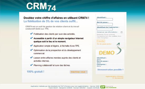 CRM74 : Gestion de la Relation Client pour TPE